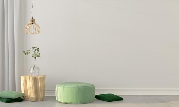 Interieur met een groene trek