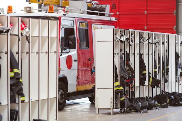 Interieur van brandweerkazerne