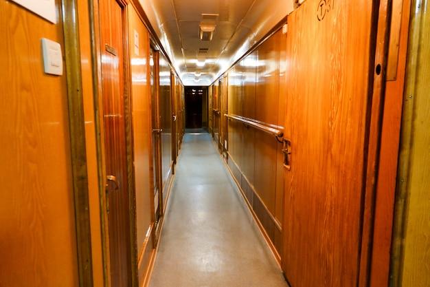 Interieur van de sovjet-atomaire ijsbreker lenin.