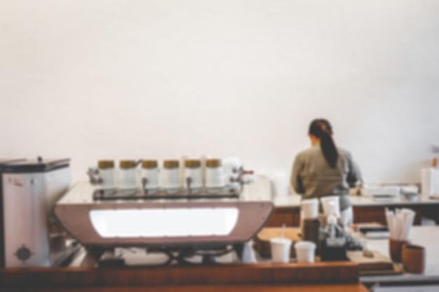 Interieur van een happy bones-stijl, coffeeshop, café.