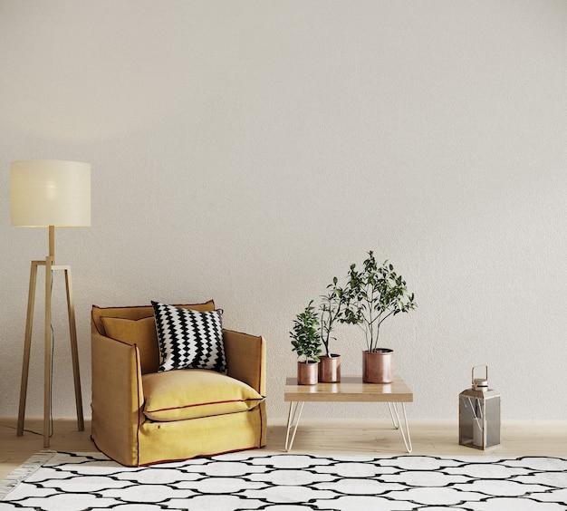 Interieur van een kamer met een stoel