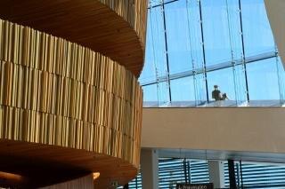 Interieur van het operagebouw van oslo