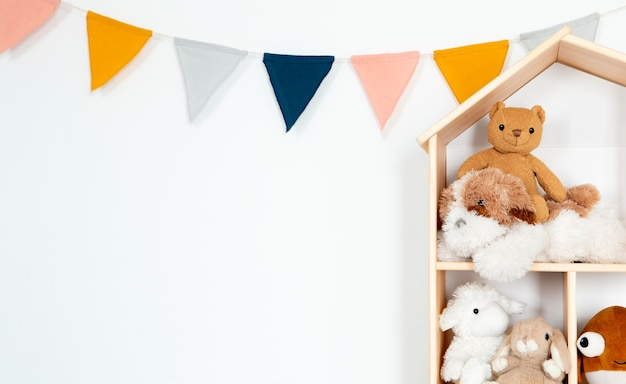Interieur van kinderkamerdecoratie met speelgoed
