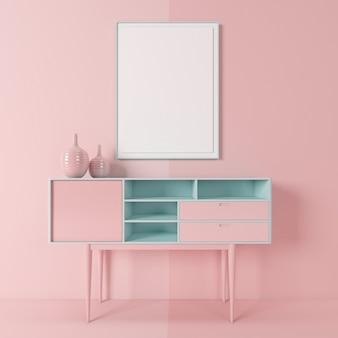 Interieur van minimale woonkamer