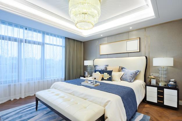 Interieur van moderne slaapkamer