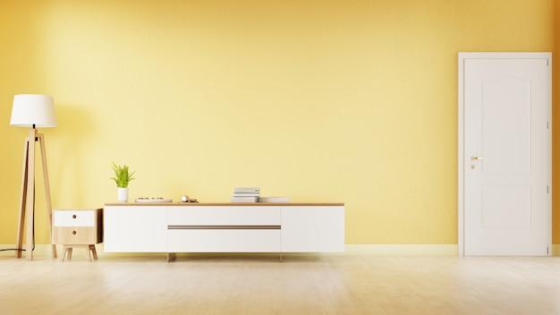 Interieur woonkamer met witte meubels. 3d-weergave