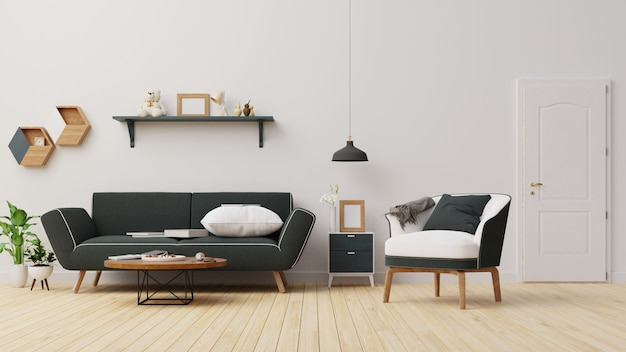 Interieur woonkamer. renderen.