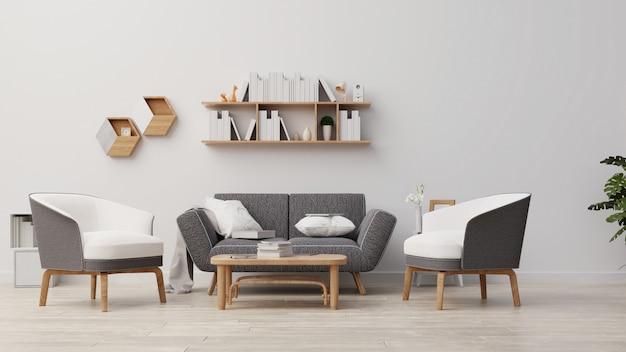 Interieur woonkamer rendering