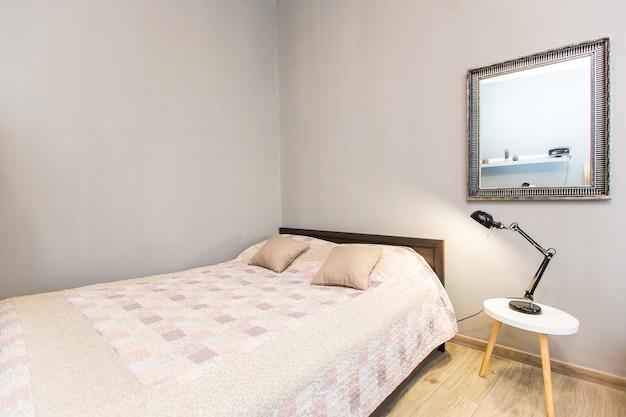 Interieurfotografie, moderne slaapkamer, met tv