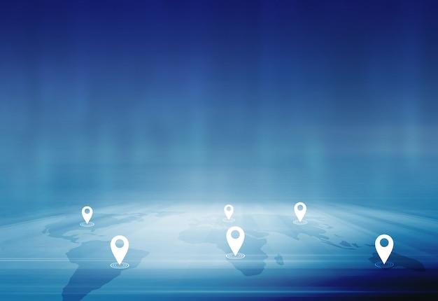 Internationaal bedrijfs- en handelsconcept tussen steden en landen