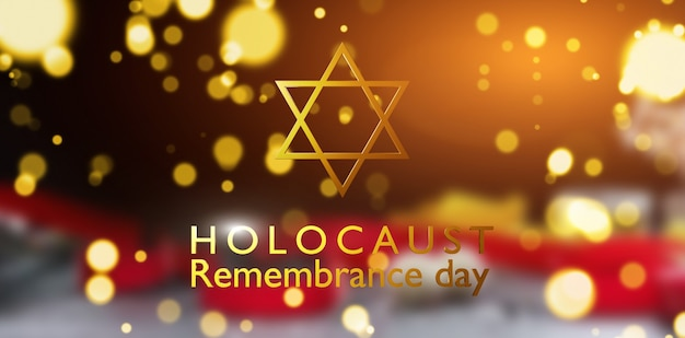 Internationale holocaustherdenkingsdag, ster van david op donkere achtergrond