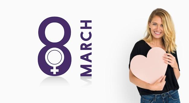 Internationale vrouwendag vakantieconcept