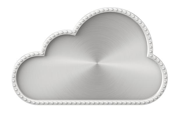 Internet-concept. stalen wolk op een witte achtergrond