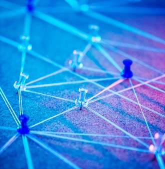 Internet-netwerk aangesloten systeem gesimuleerd
