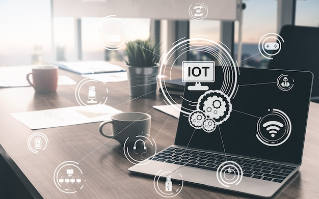 Internet of things en communicatie technologie concept. slimme informatie en digitale levensstijl.
