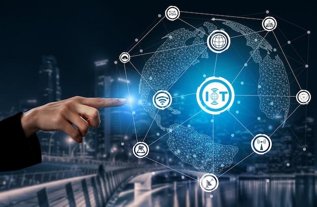 Internet of things en communicatietechnologie concept