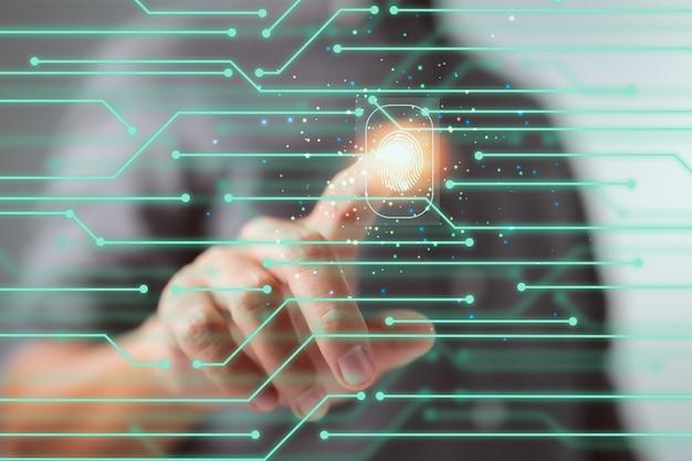 Internetbeveiligingstechnologieconcept voor persoonlijke toekomst van technologieën