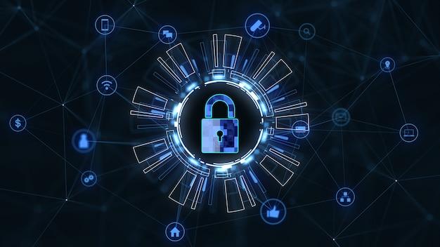 Internettechnologienetwerk en cyberveiligheidsconcept.