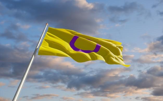 Intersex pride flag. 3d-illustraties