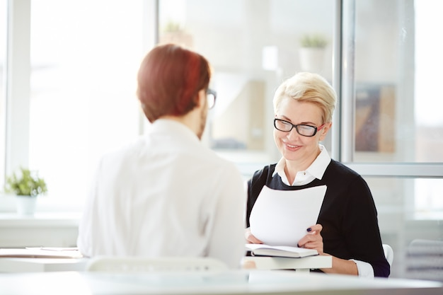 Interview met werkgever
