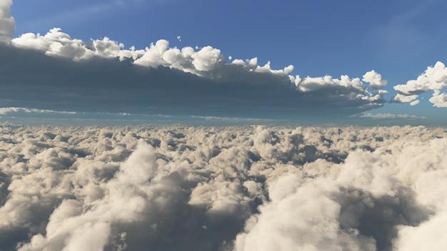 Into the cloud day licht behang in landschaps- en natuurscène.