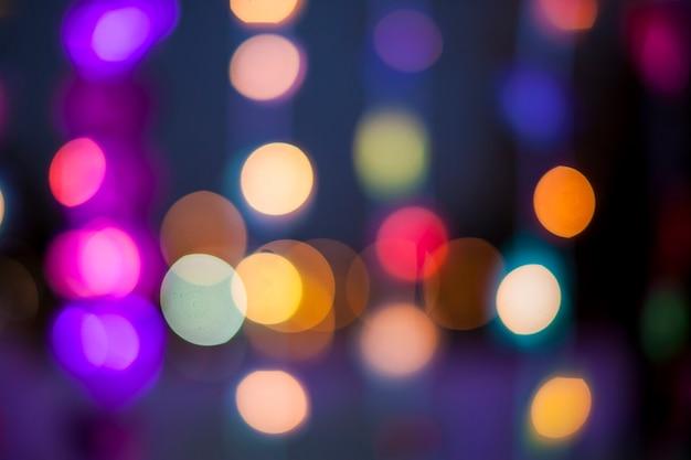 Intreepupil bokeh kleurrijke lichten.