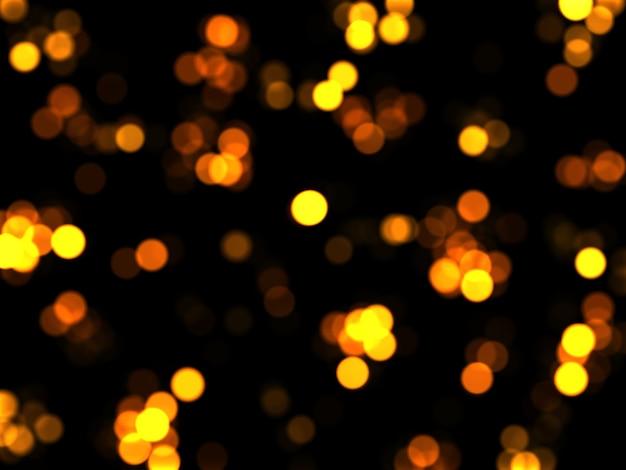 Intreepupil gouden lichten op een donkere achtergrond. kerstmis gloeiende achtergrond. bokeh-effect.