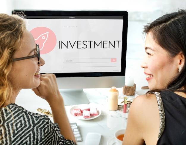 Investering nieuw bedrijfslanceringsplanconcept