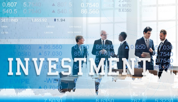 Investeringseconomie financiën business trade concept Gratis Foto