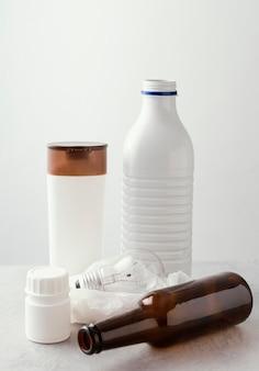 Inzameling van plastic flessen