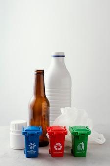 Inzameling van plastic zakken