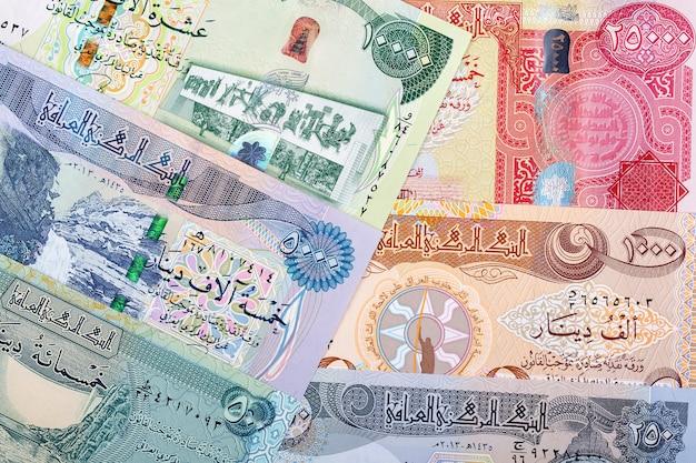 Iraakse dinar een zakelijke achtergrond