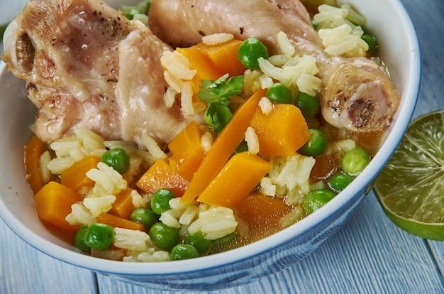Irak wortel ricei, azië traditionele geassorteerde gerechten, bovenaanzicht.