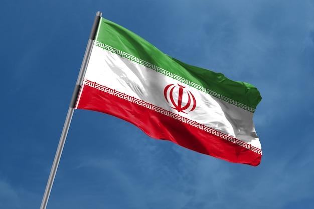 Iran vlag zwaaien