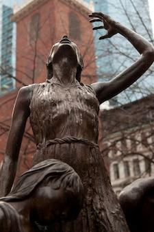 Irish famine memorial in boston, massachusetts, verenigde staten