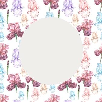 Irissen bloemen voorjaar bloeien. aquarel illustratie patroon