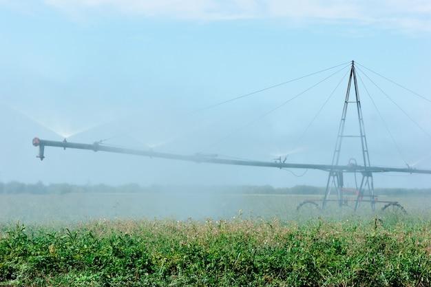 Irrigatiesysteem drenken veld