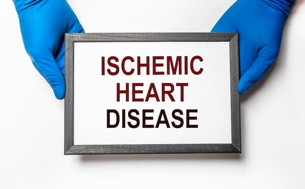 Ischemische hartziekte inscriptie. hart-en vaatziekte. medisch concept