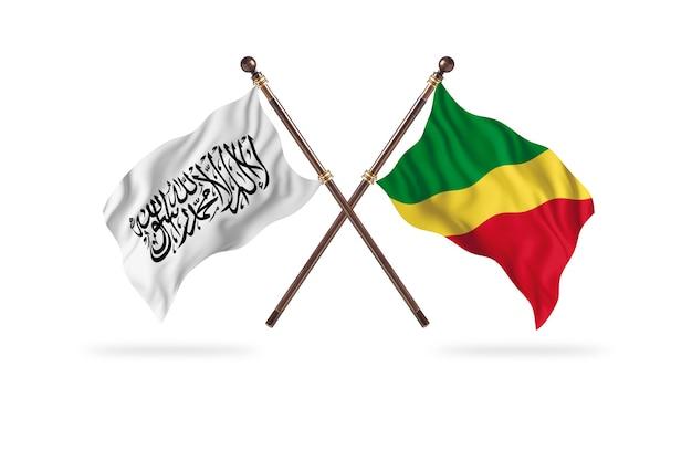 Islamitisch emiraat afghanistan versus congo, republiek van de twee vlaggen achtergrond