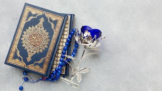 Islamitisch nieuwjaarconcept met exemplaarruimte