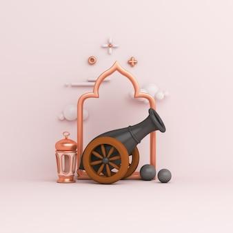 Islamitische decoratie met kanon arabische raamkozijn lantaarn