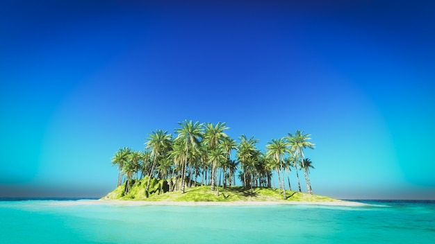 Island gezien vanaf de zee