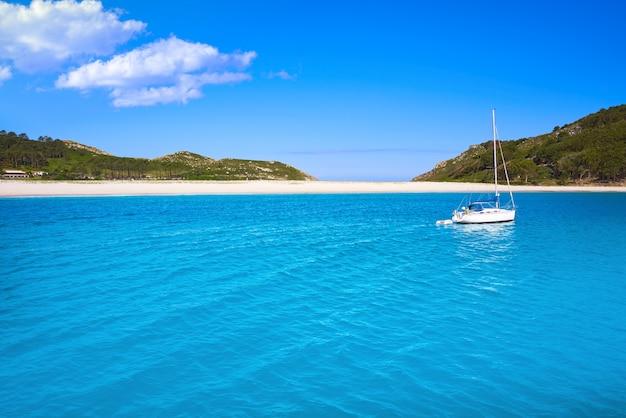 Islas cies-eilanden dichtbij vigo galicië spanje