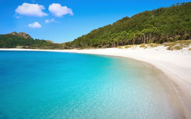 Islas cies-eilanden strand turkoois in de buurt van vigo galicië