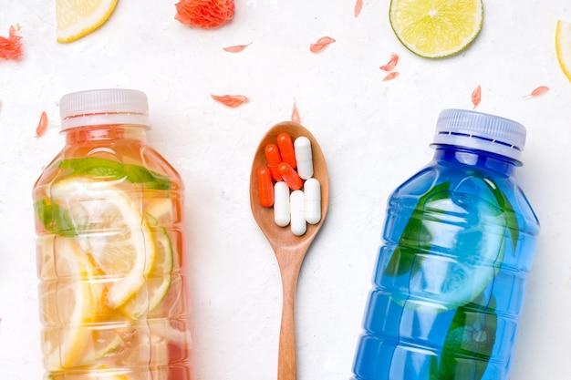 Isotone sportdranken met vitamines en mineralen