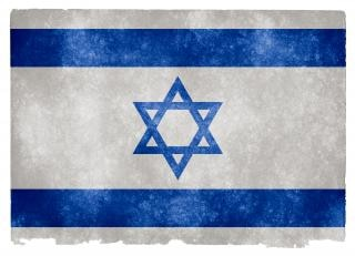 Israel grunge vlag vuil