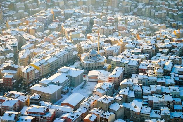 Istanbul vanaf de top.