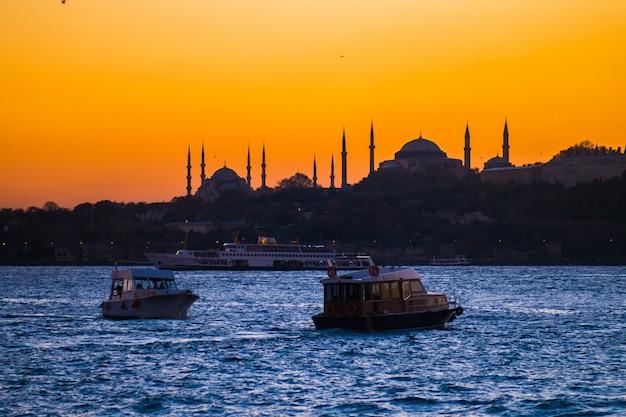 Istanbul zonsondergang