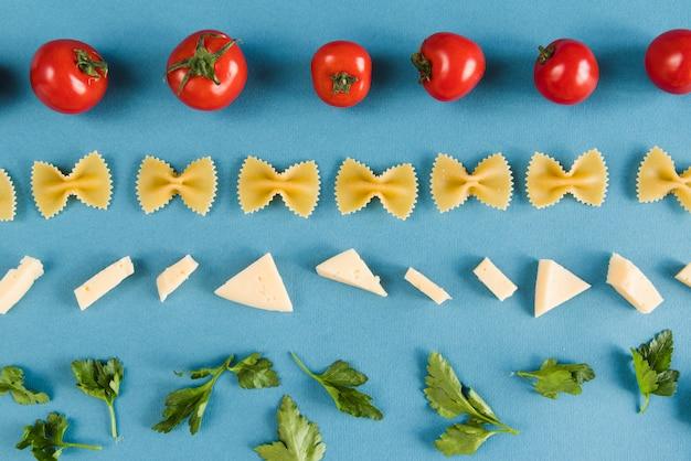 Italiaanse ingrediëntenlijnen