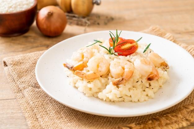 Italiaanse risotto met garnalen